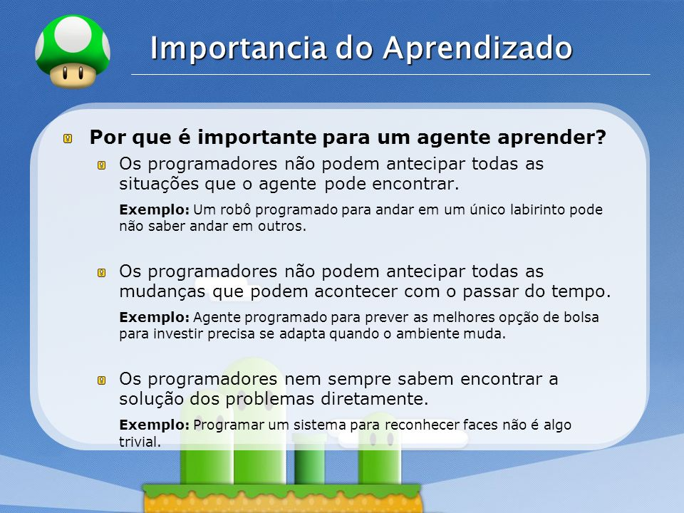 Importancia do Aprendizado