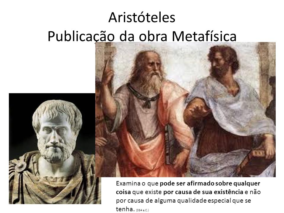 Aristóteles Publicação da obra Metafísica