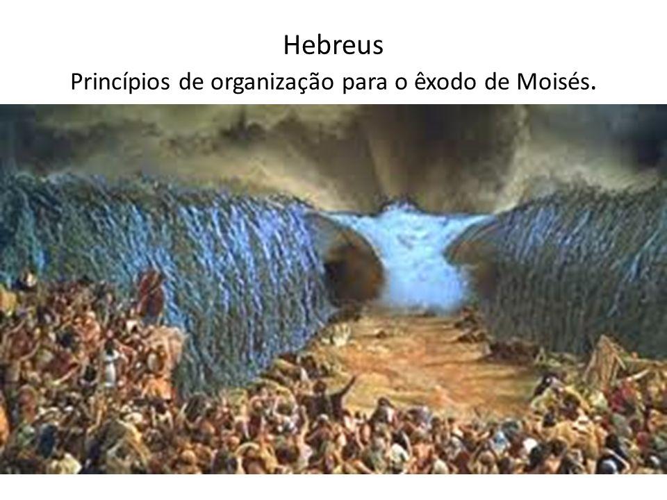 Hebreus Princípios de organização para o êxodo de Moisés.