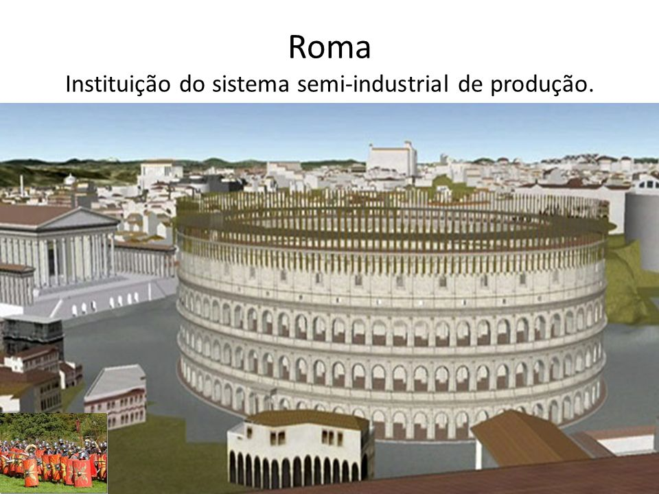 Roma Instituição do sistema semi-industrial de produção.