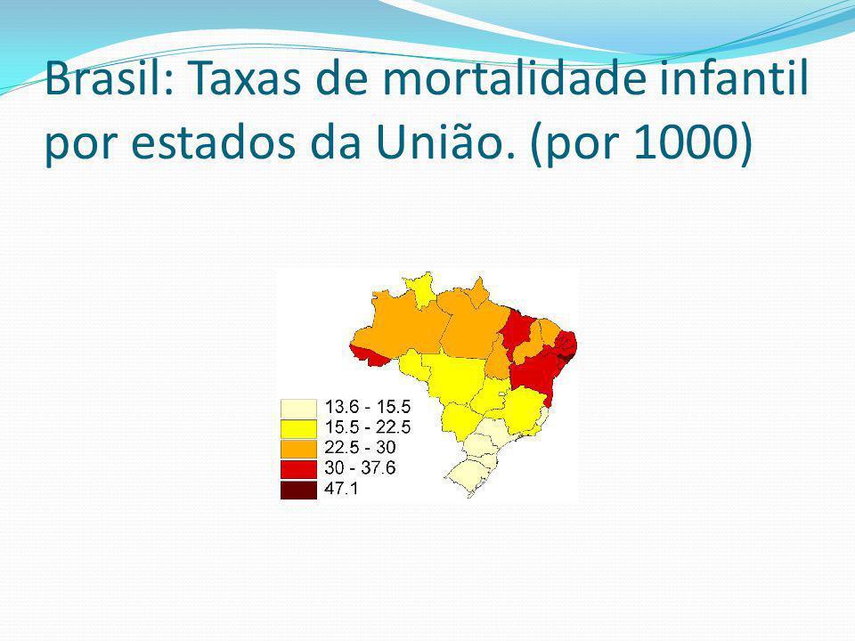Brasil: Taxas de mortalidade infantil por estados da União. (por 1000)