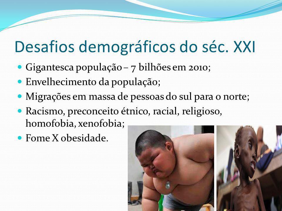 Desafios demográficos do séc. XXI