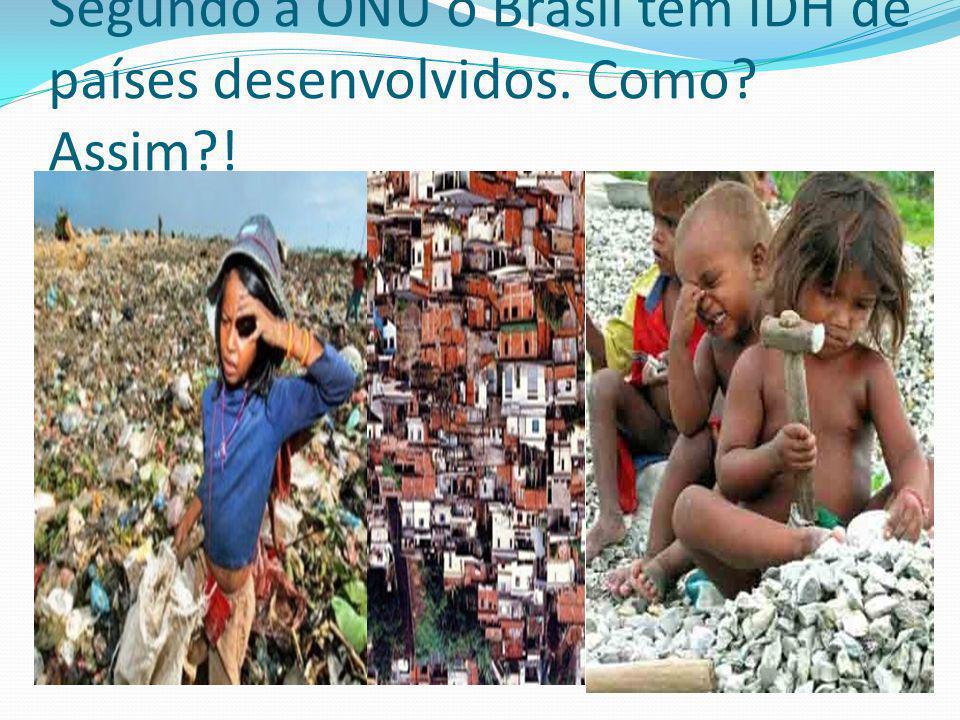 Segundo a ONU o Brasil tem IDH de países desenvolvidos. Como Assim !