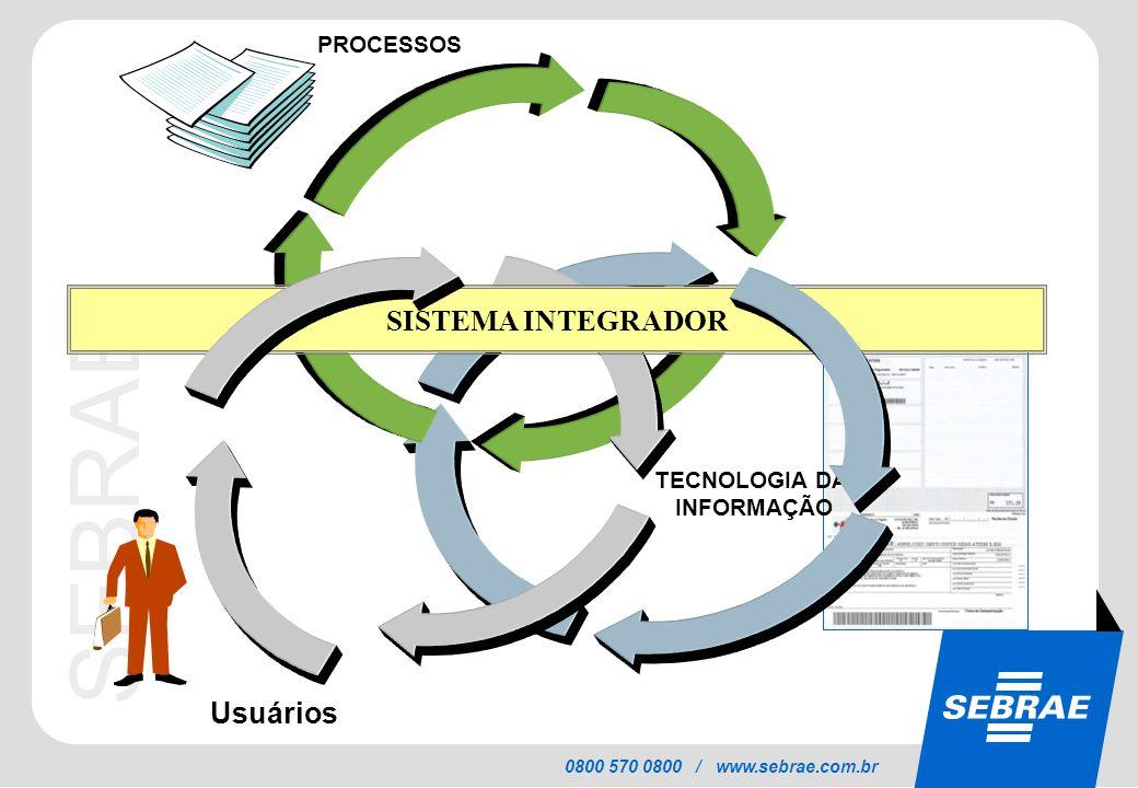 PROCESSOS SISTEMA INTEGRADOR TECNOLOGIA DA INFORMAÇÃO Usuários