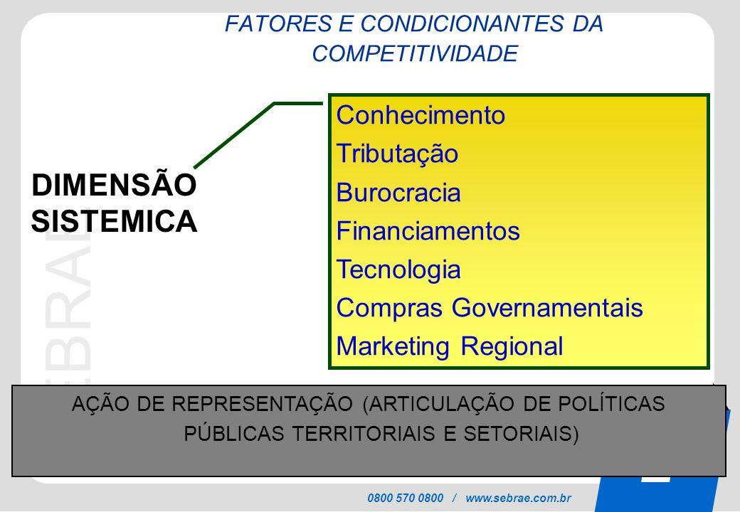 FATORES E CONDICIONANTES DA COMPETITIVIDADE