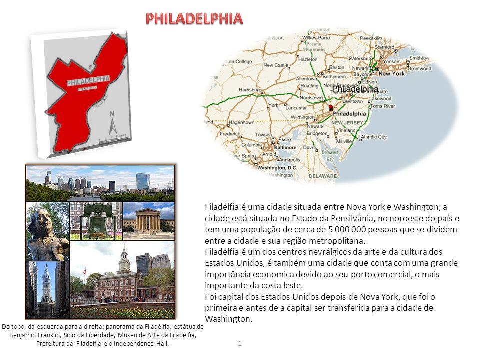 Prefeitura da Filadélfia e o Independence Hall.