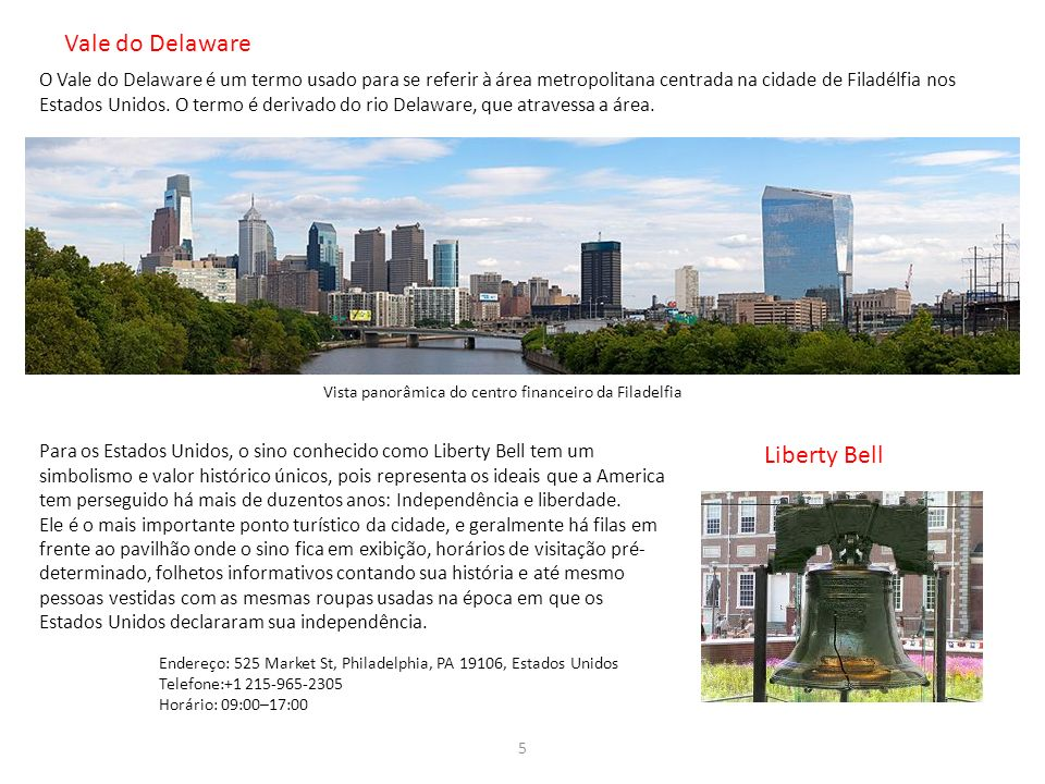 Vale do Delaware Liberty Bell