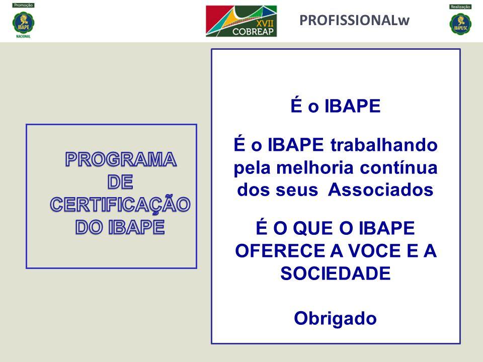 É o IBAPE trabalhando pela melhoria contínua dos seus Associados