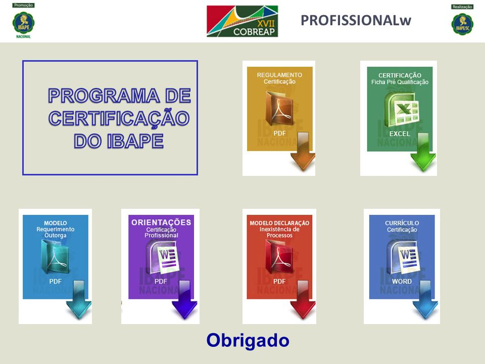 PROGRAMA DE CERTIFICAÇÃO DO IBAPE