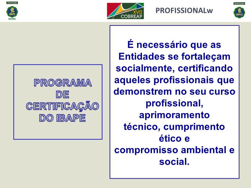 técnico, cumprimento ético e compromisso ambiental e social.