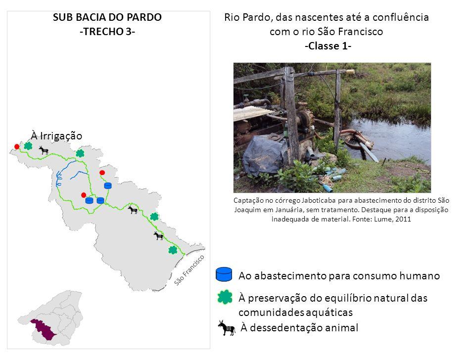 Rio Pardo, das nascentes até a confluência com o rio São Francisco