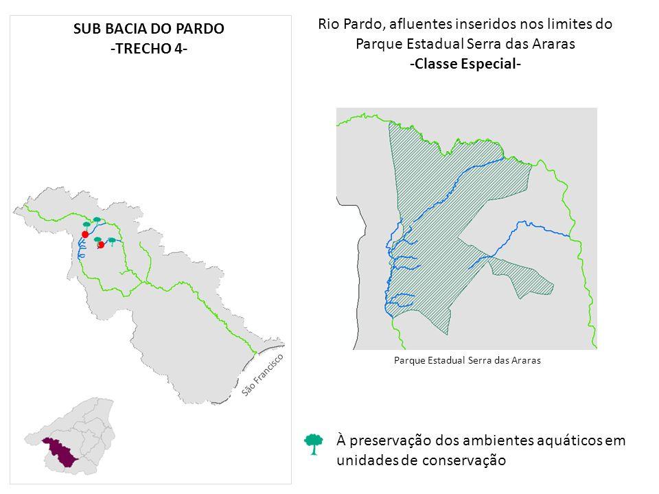-Classe Especial- SUB BACIA DO PARDO -TRECHO 4-