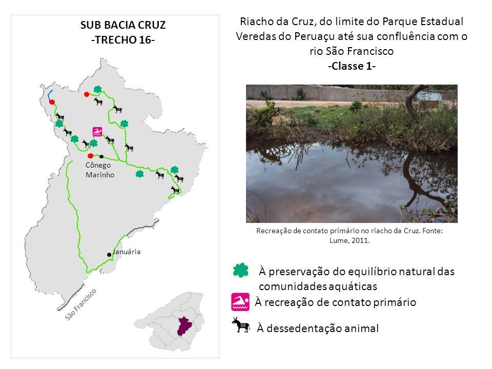 Recreação de contato primário no riacho da Cruz. Fonte: Lume, 2011.