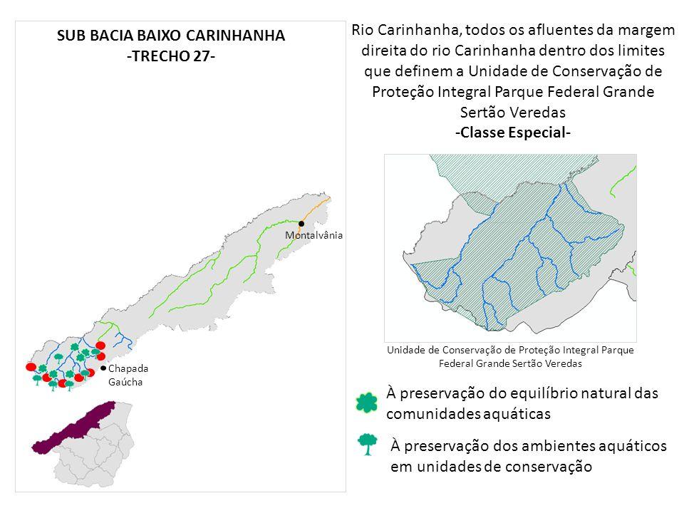 SUB BACIA BAIXO CARINHANHA