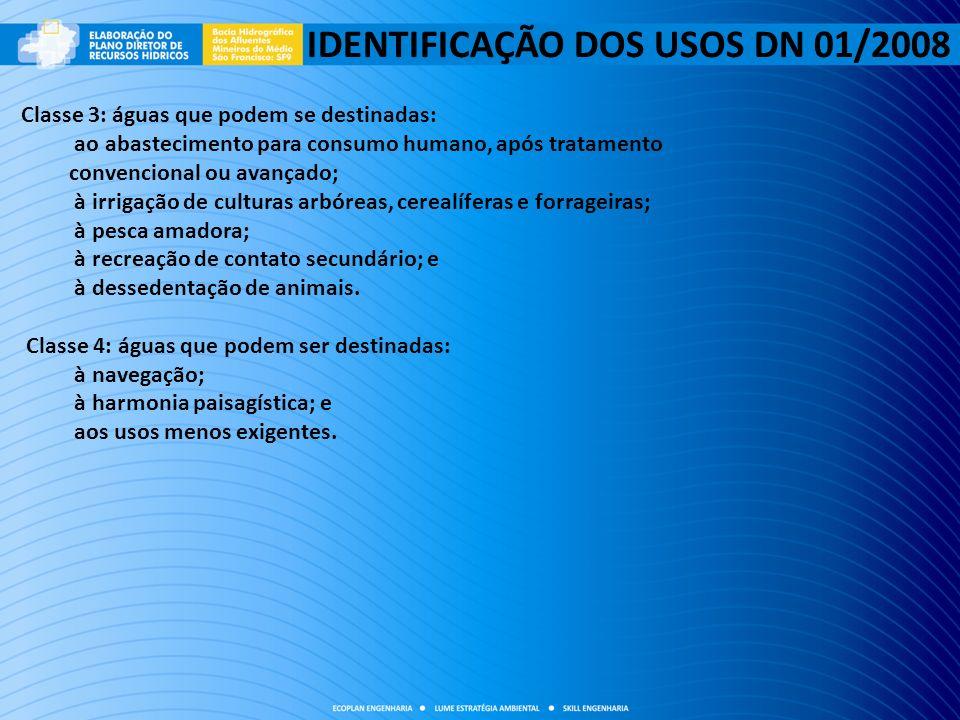 IDENTIFICAÇÃO DOS USOS DN 01/2008