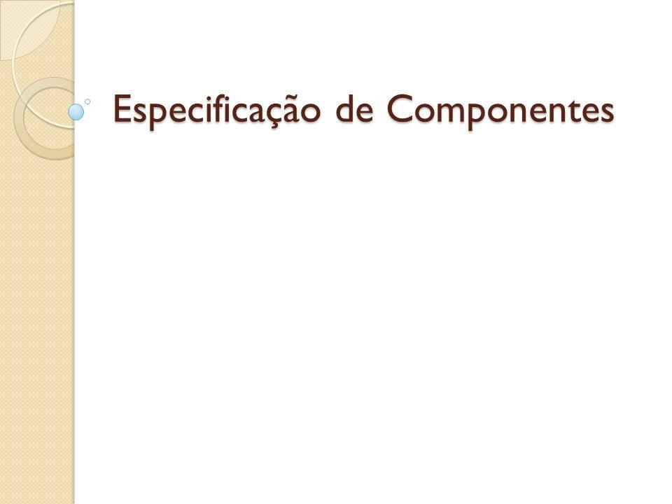 Especificação de Componentes