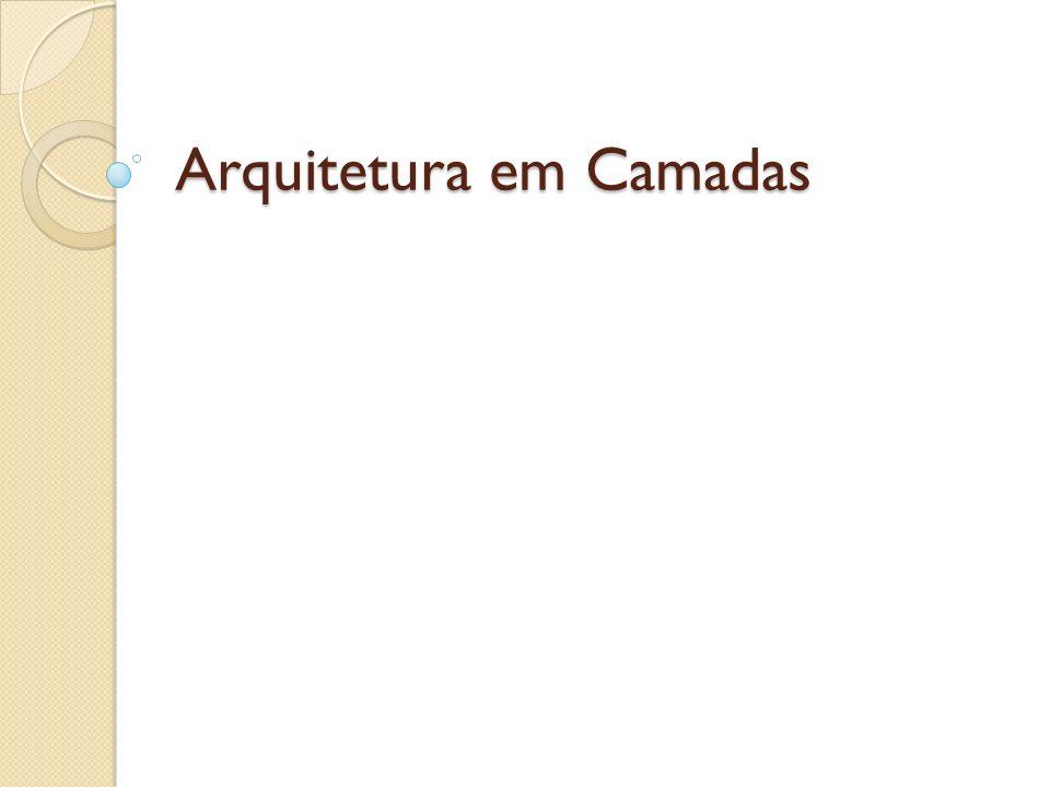 Arquitetura em Camadas