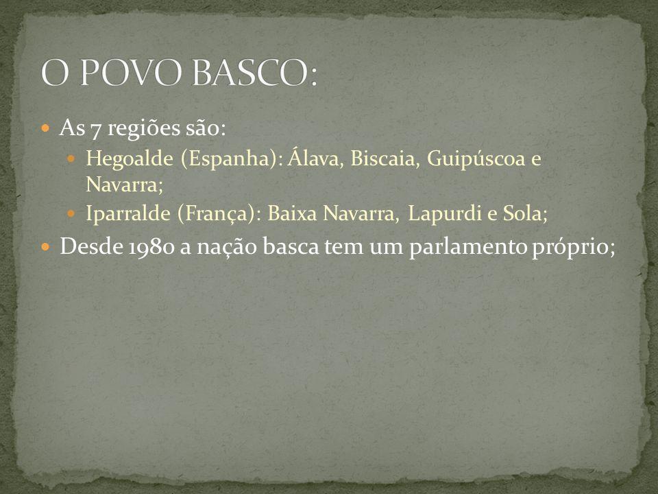 O POVO BASCO: As 7 regiões são: