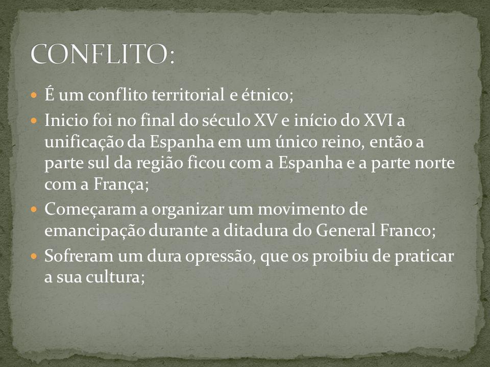 CONFLITO: É um conflito territorial e étnico;