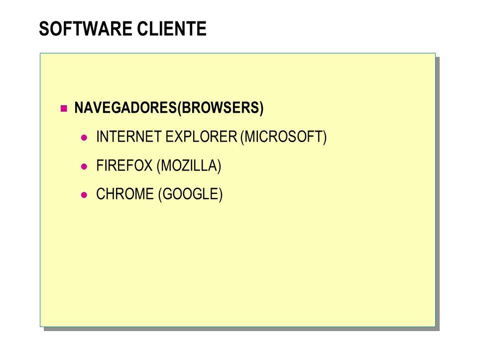SOFTWARE CLIENTE NAVEGADORES(BROWSERS) INTERNET EXPLORER (MICROSOFT)