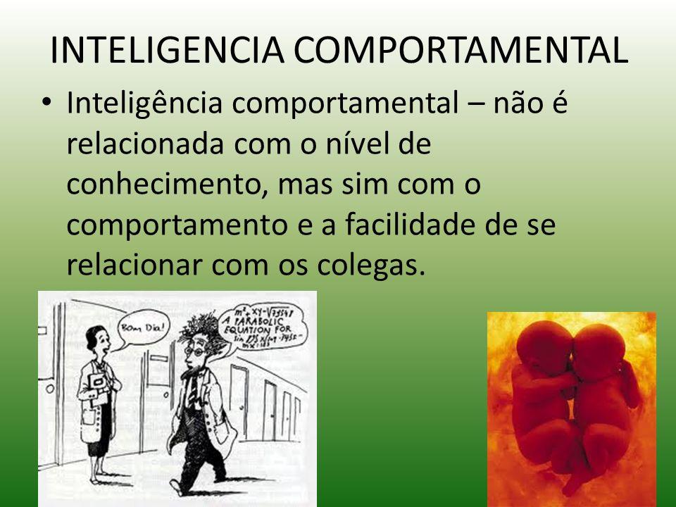 INTELIGENCIA COMPORTAMENTAL