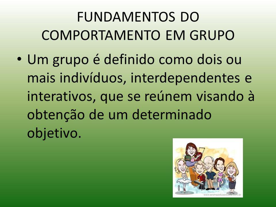 FUNDAMENTOS DO COMPORTAMENTO EM GRUPO
