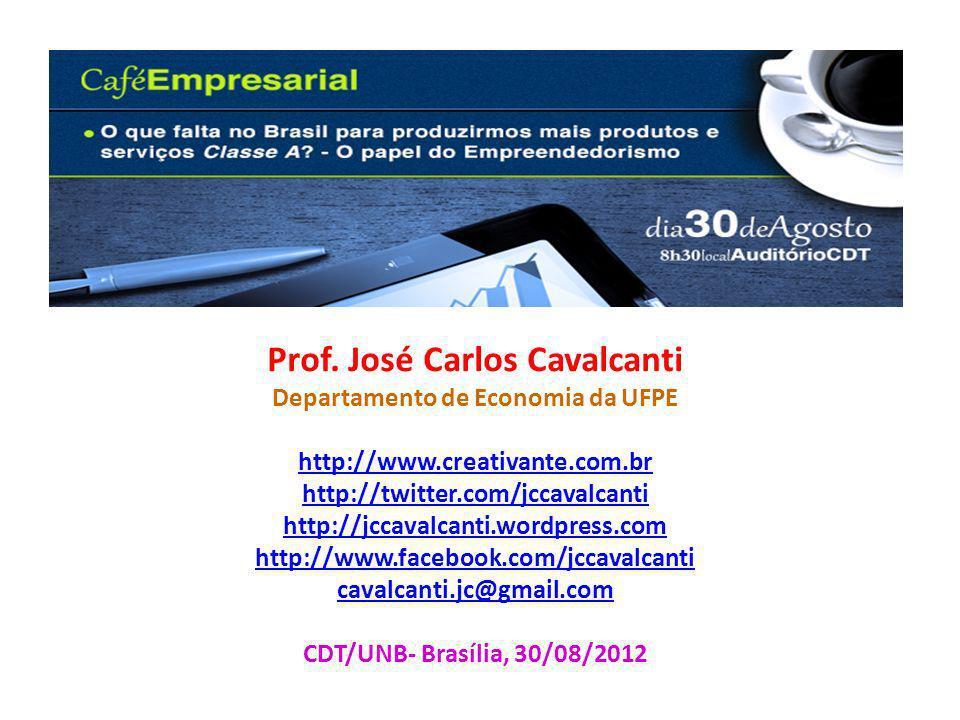 Prof. José Carlos Cavalcanti Departamento de Economia da UFPE