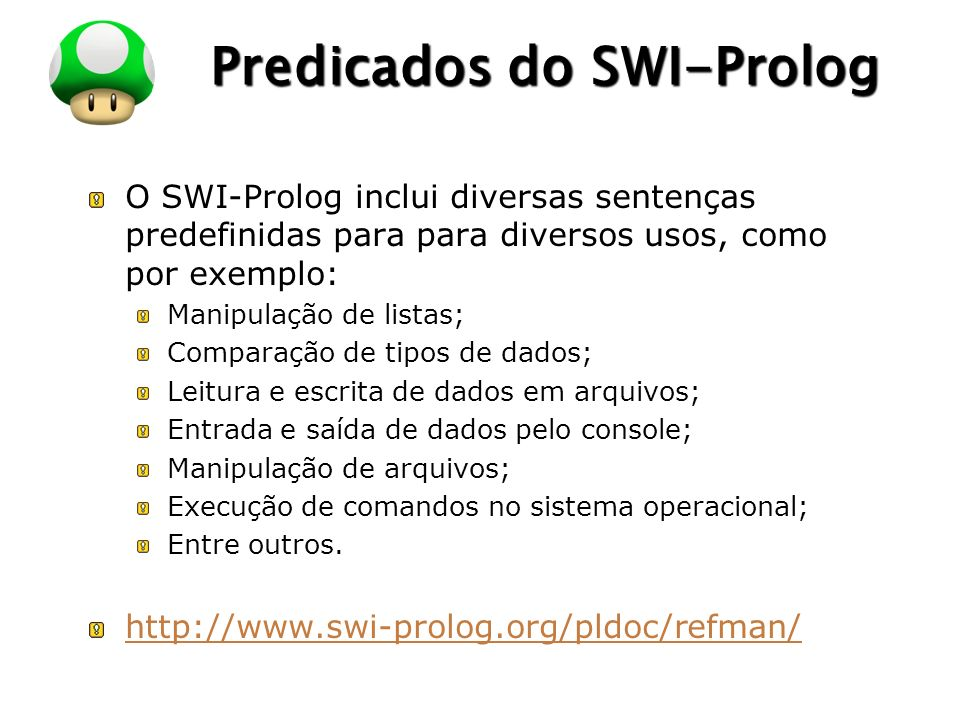 Predicados do SWI-Prolog