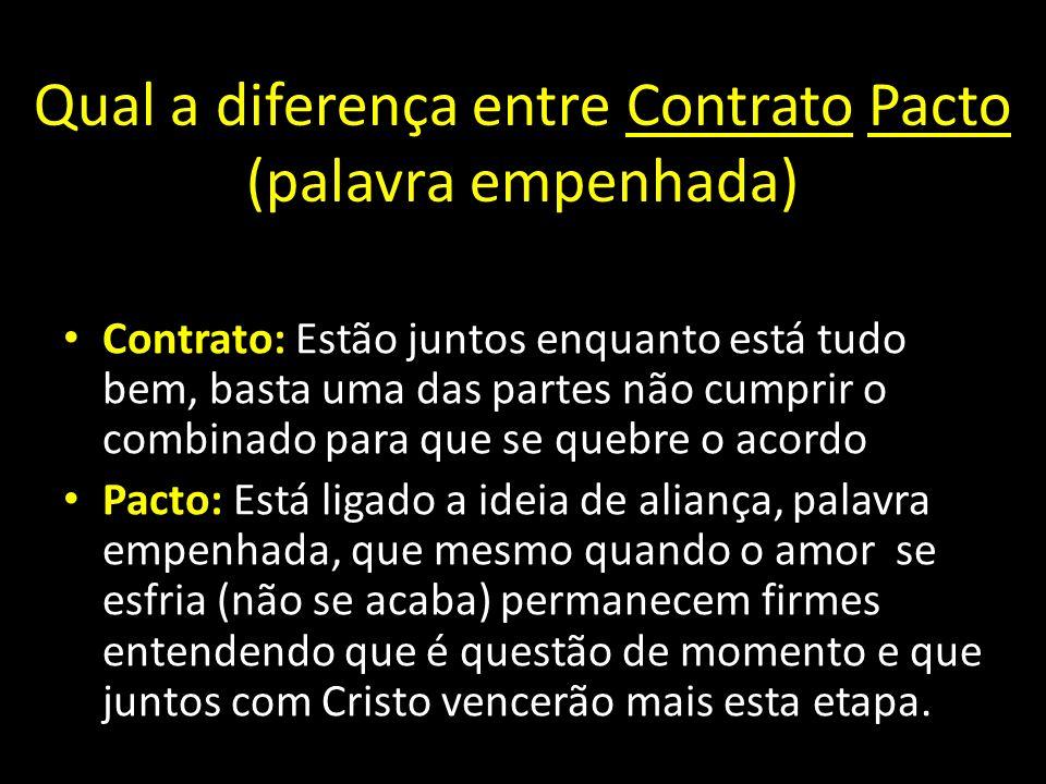 Qual a diferença entre Contrato Pacto (palavra empenhada)