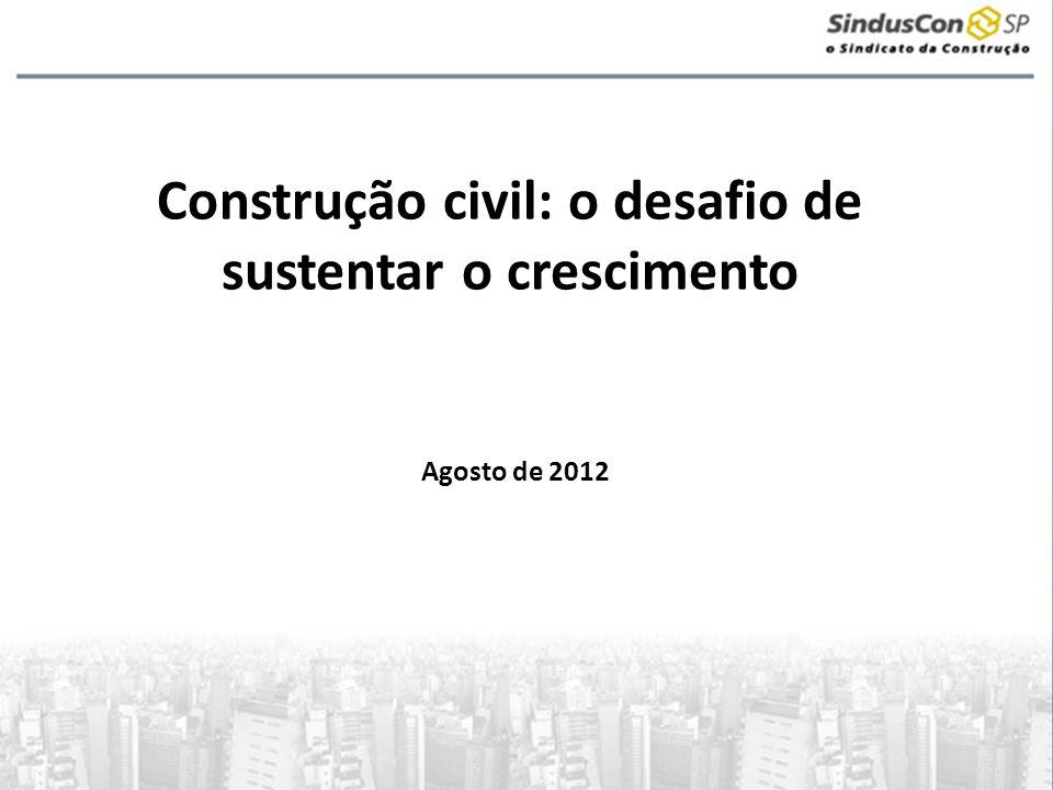 Construção civil: o desafio de sustentar o crescimento