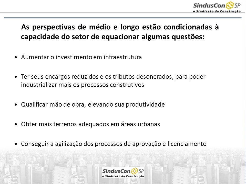 As perspectivas de médio e longo estão condicionadas à capacidade do setor de equacionar algumas questões: