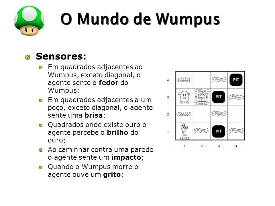 O Mundo de Wumpus Sensores: