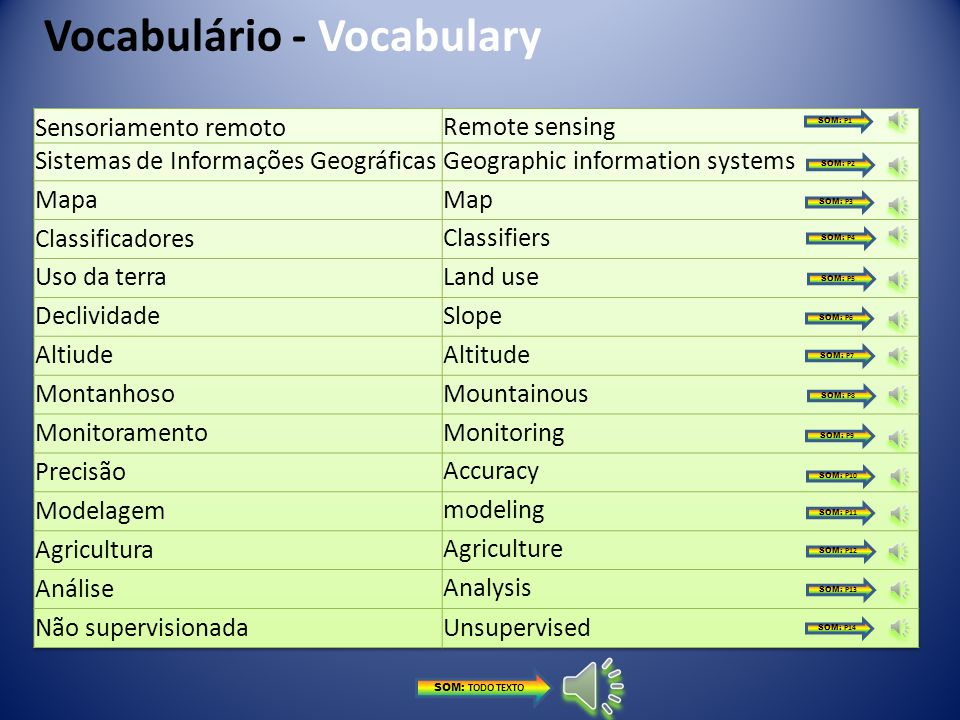 Vocabulário - Vocabulary