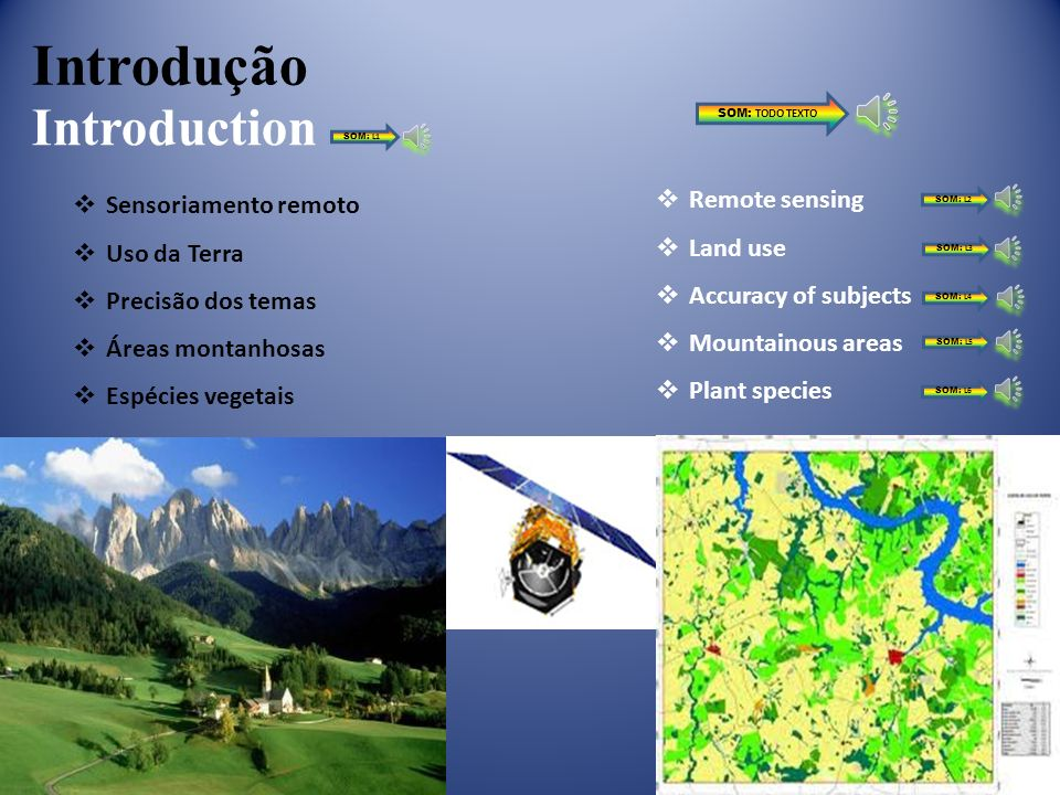 Introdução Introduction Remote sensing Sensoriamento remoto Land use
