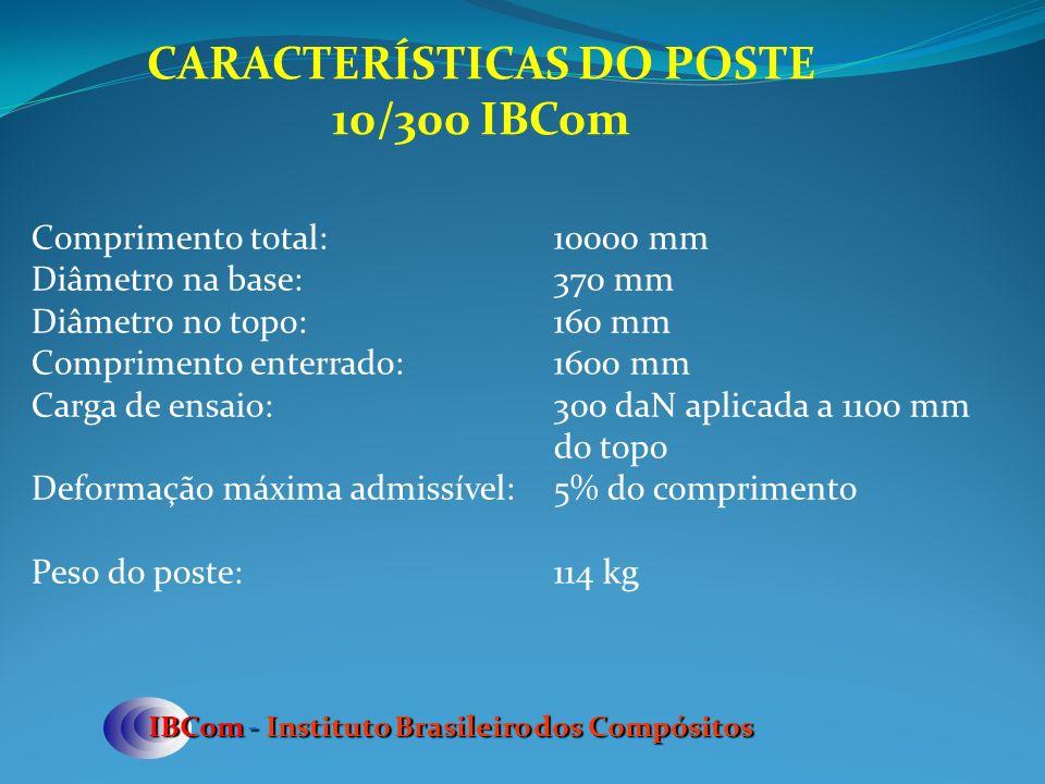 CARACTERÍSTICAS DO POSTE 10/300 IBCom