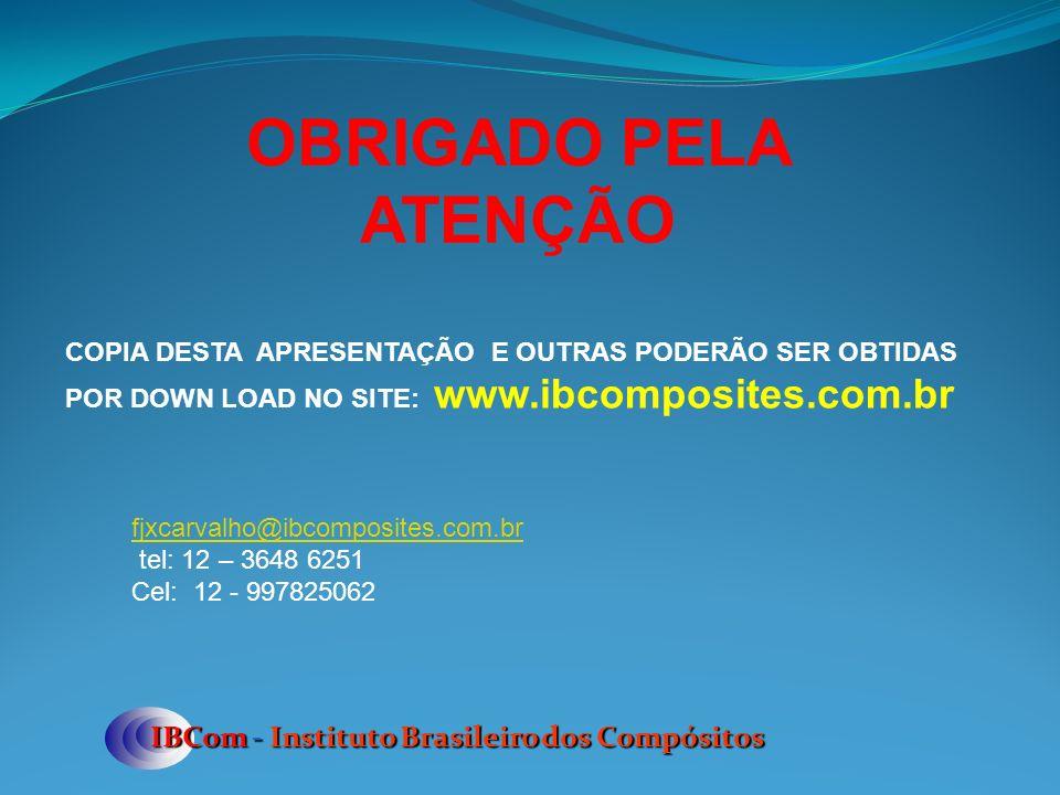 OBRIGADO PELA ATENÇÃO IBCom - Instituto Brasileiro dos Compósitos