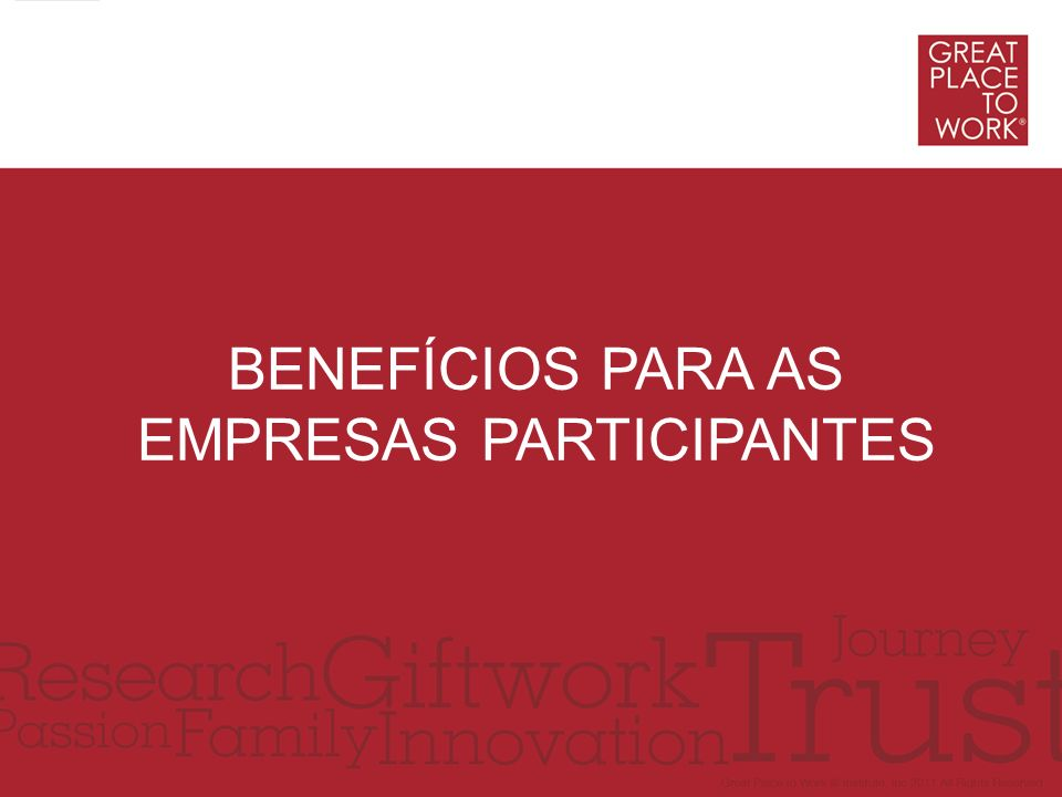 Benefícios para as empresas participantes
