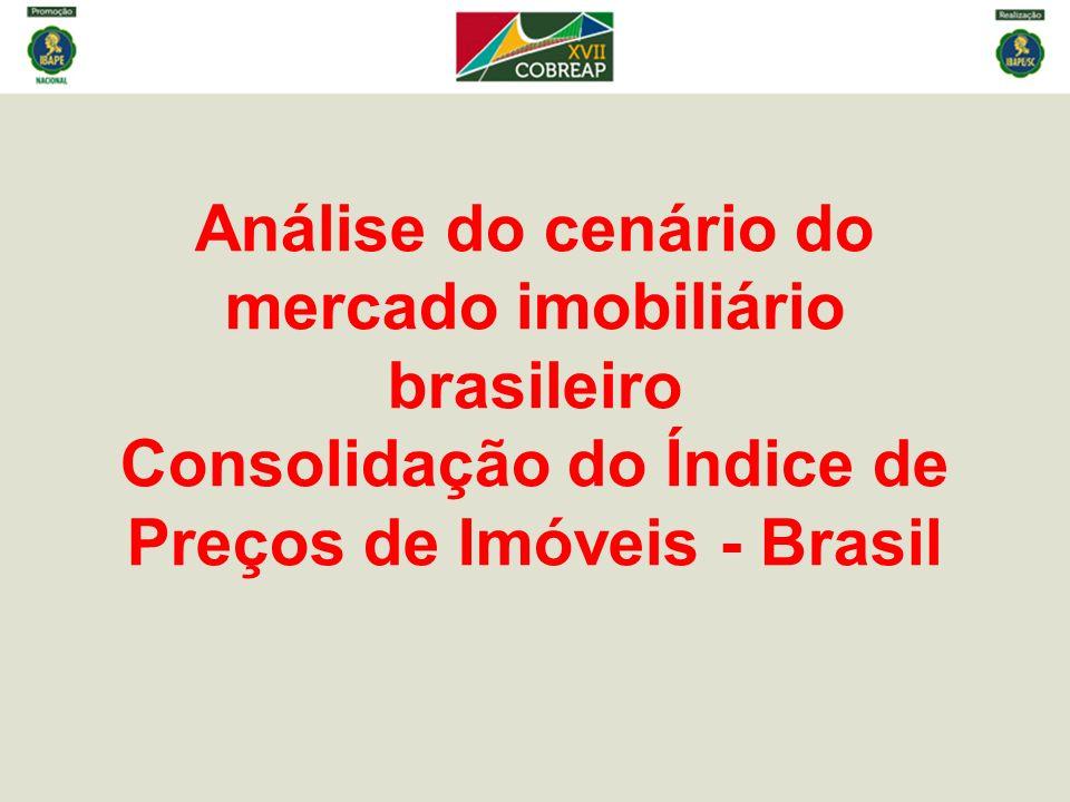 Análise do cenário do mercado imobiliário brasileiro Consolidação do Índice de Preços de Imóveis - Brasil