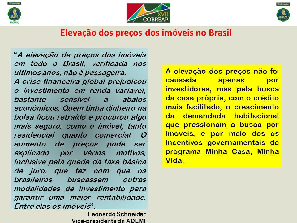Elevação dos preços dos imóveis no Brasil