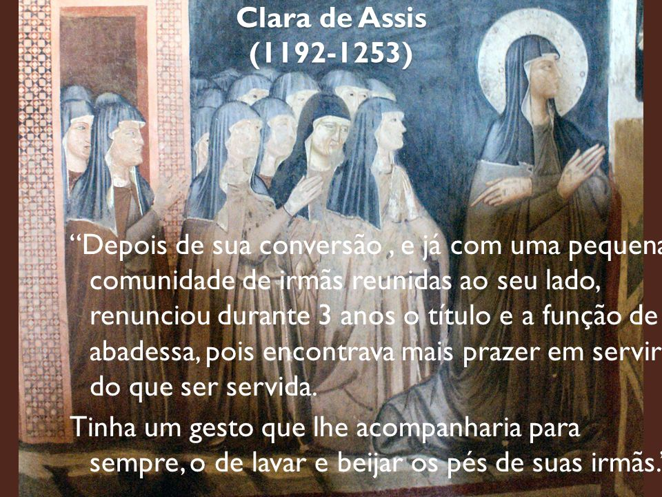 Clara de Assis (1192-1253)
