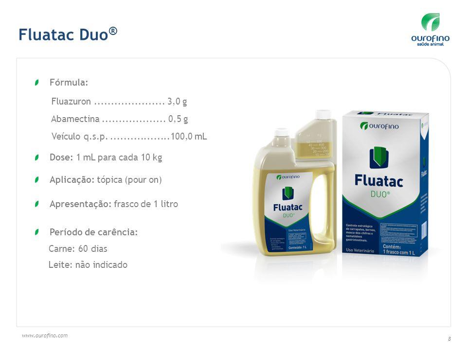 Fluatac Duo® Fórmula: Fluazuron ..................... 3,0 g