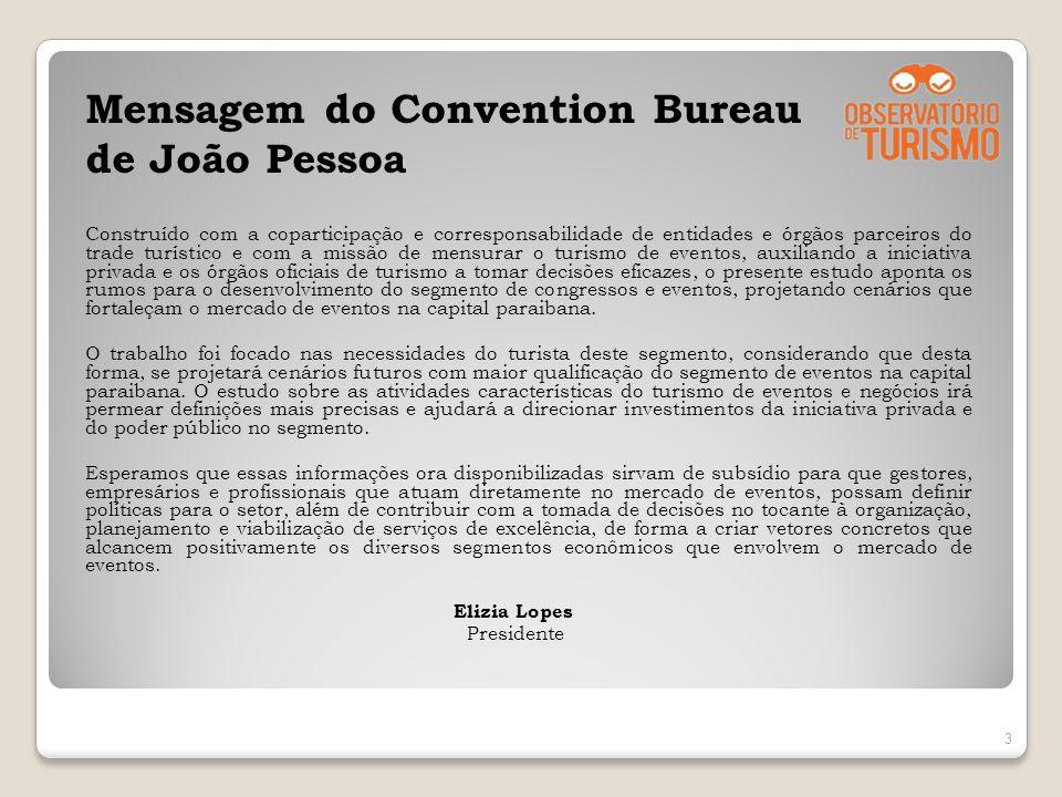 Mensagem do Convention Bureau de João Pessoa