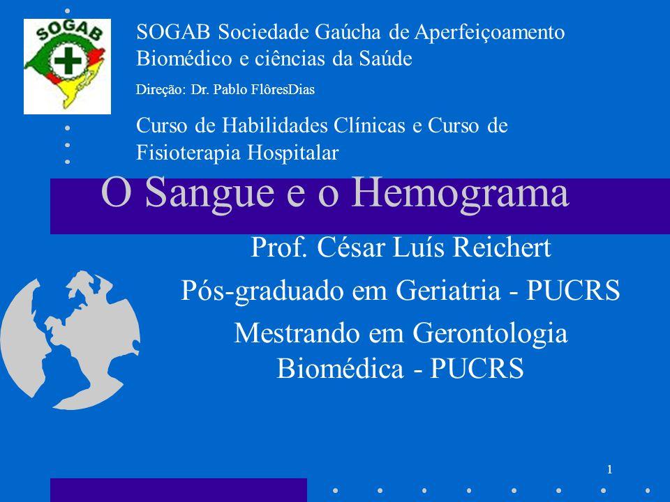 O Sangue e o Hemograma Prof. César Luís Reichert
