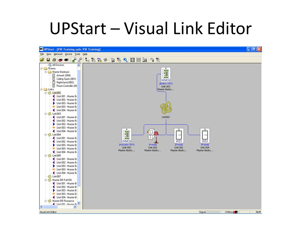 UPStart – Visual Link Editor