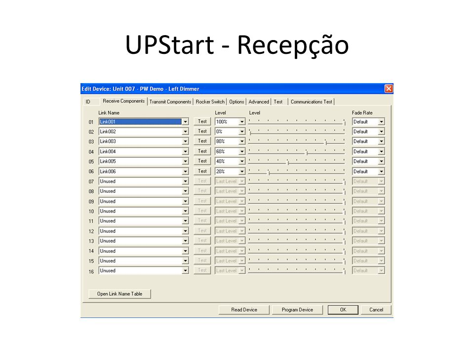 UPStart - Recepção