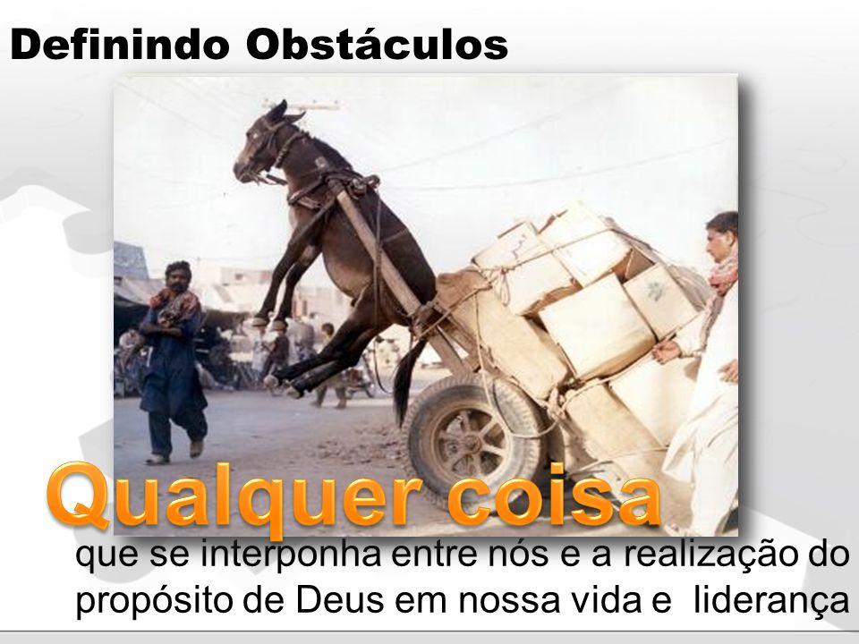 Qualquer coisa Definindo Obstáculos