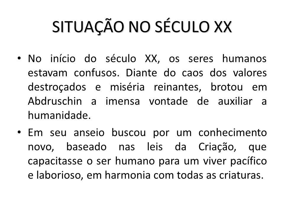 SITUAÇÃO NO SÉCULO XX