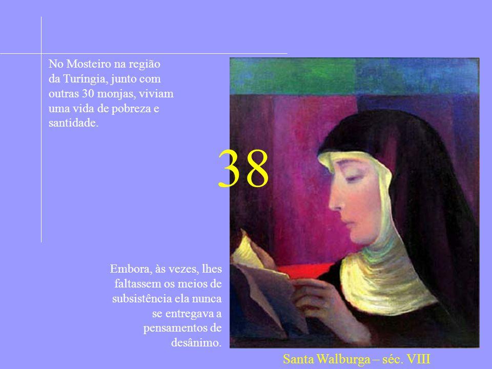 Santa Walburga – séc. VIII