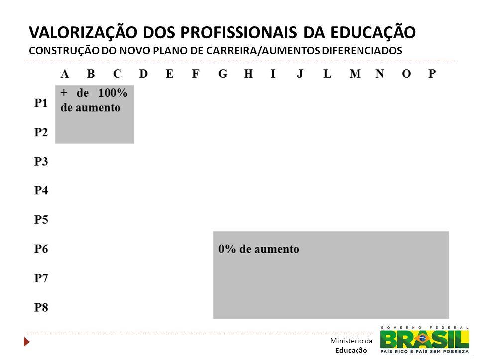 VALORIZAÇÃO DOS PROFISSIONAIS DA EDUCAÇÃO CONSTRUÇÃO DO NOVO PLANO DE CARREIRA/AUMENTOS DIFERENCIADOS