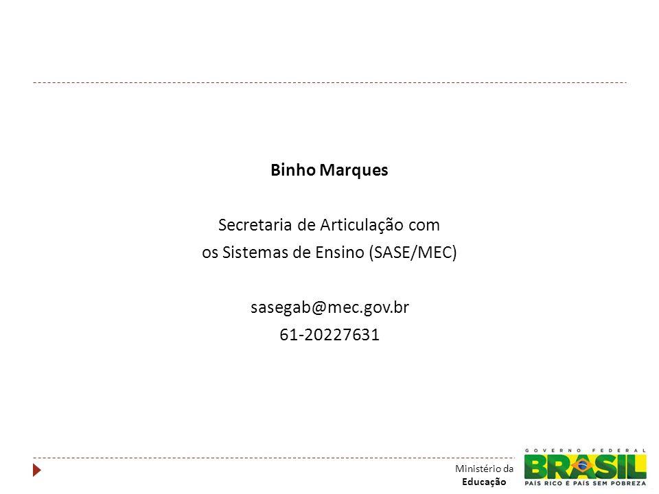 Secretaria de Articulação com os Sistemas de Ensino (SASE/MEC)